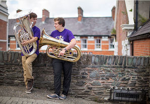 National Youth Orchestra Great Britain Summer 2013 Derry Londonderry Photo Jason Alden Play The City Tuba.