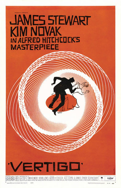 Saul Bass 1958 Vertigo One Sheet Movie Poster