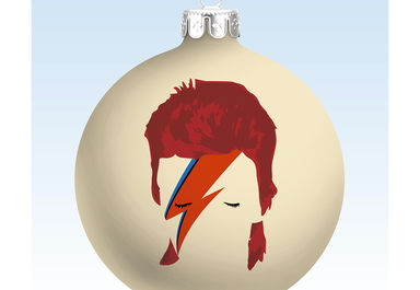 02 David Bowie Xmas Bauble