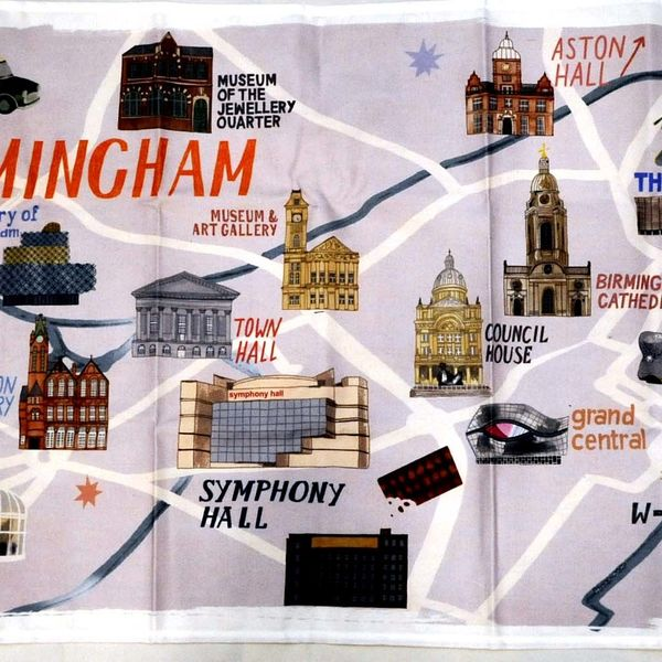 29 Bham Map Tea Towel