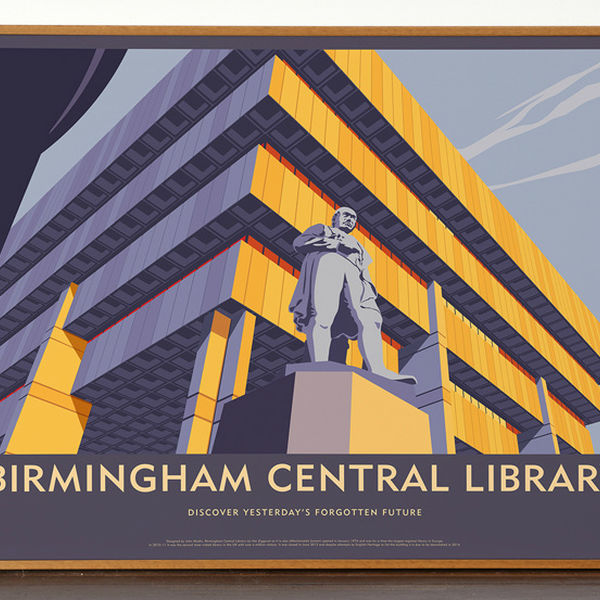 31 Brum Central Library H60 X W80Cm