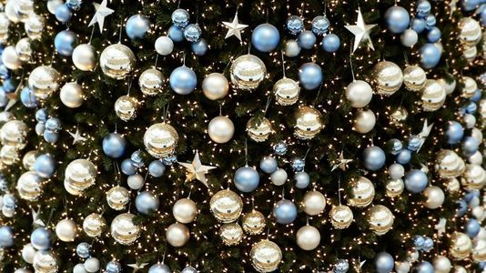 Christmas Tree Close Up With A Million Baubles