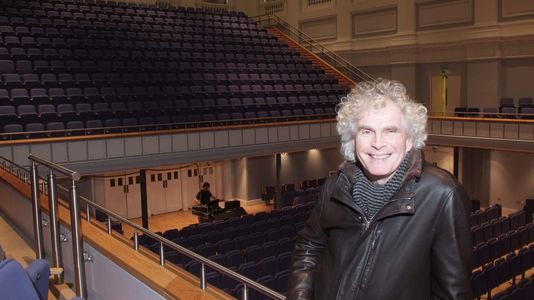 Simon Rattle At Town Hall 19 Dec 08 Credit Alan Wood Ref 009